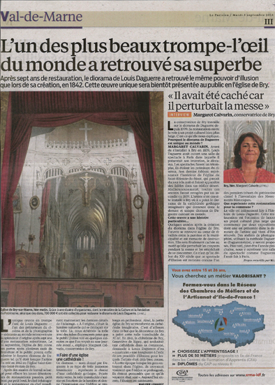 Lire l'article : le parisien du 3 septembre 2013