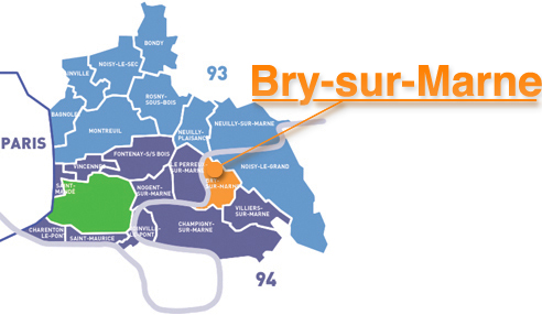 Situation de Bry-sur-Marne en Ile-de-France