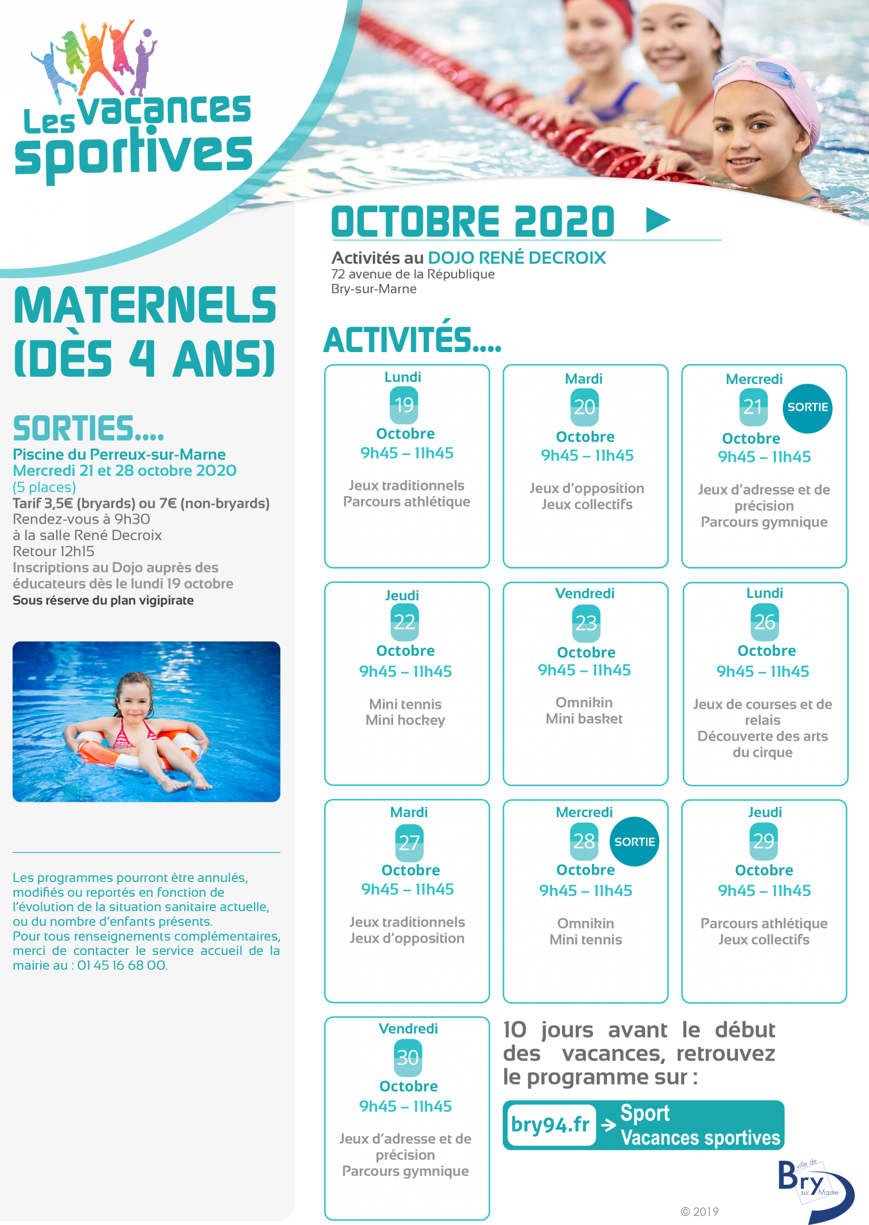 Vacances sportives Maternels 2020